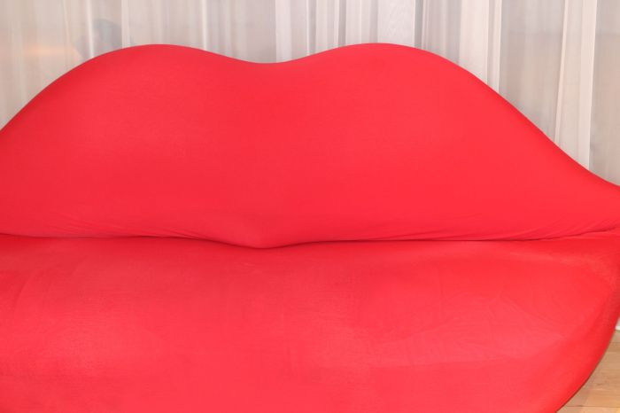 This couch will literally kiss your ass.