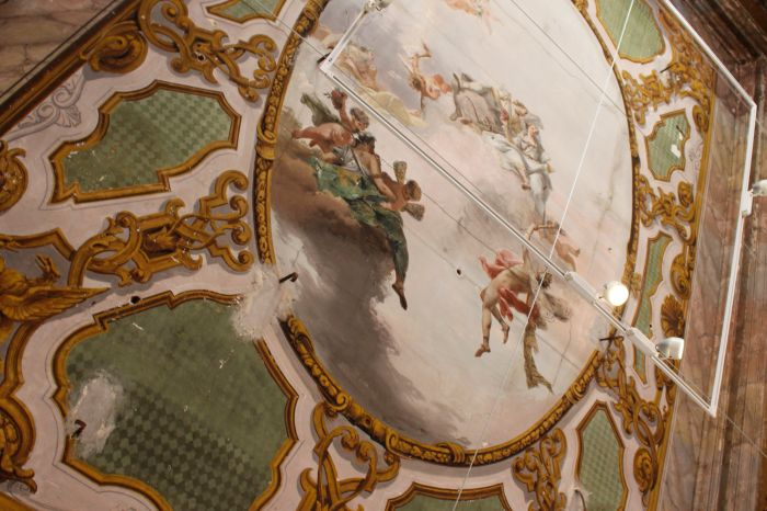 Once of the original frescoed ceilings